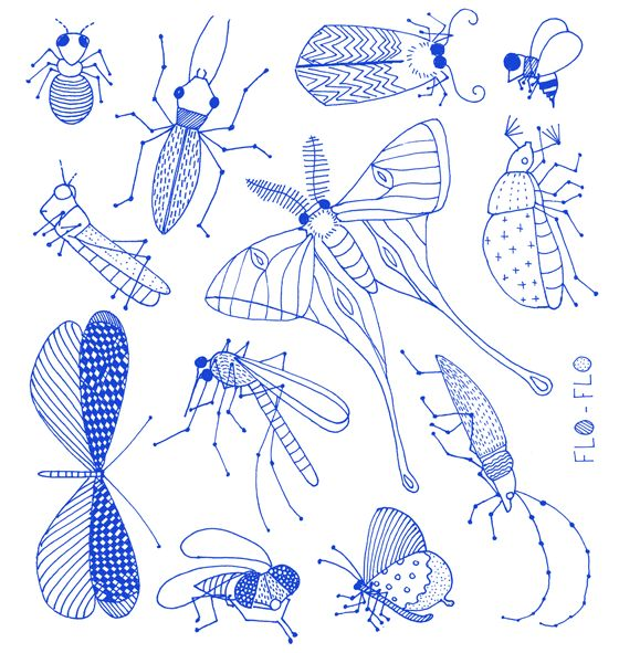 ELECTRIC INSECTS   Florence Boudet – Graphic Design, Typography, Illustration, Art, Language & Books