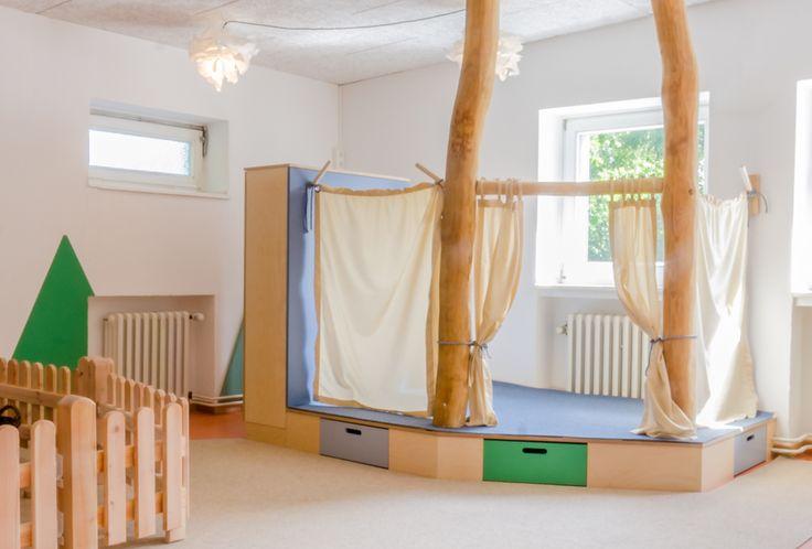 in verschiedene rollen schl pfen unterm sternenzelt interior kita kindergarten. Black Bedroom Furniture Sets. Home Design Ideas