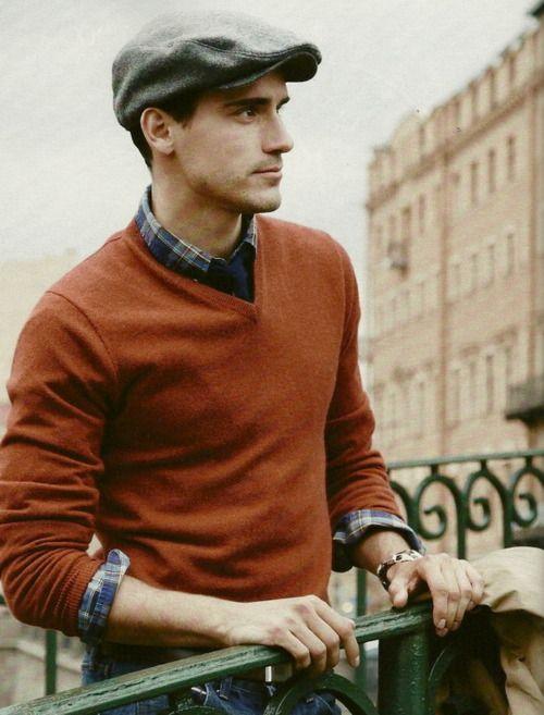 fallHats, Men Clothing, Menfashion, Guys Style, Burnt Orange, Outfit, Men Fashion, Style Men, Plaid Shirts