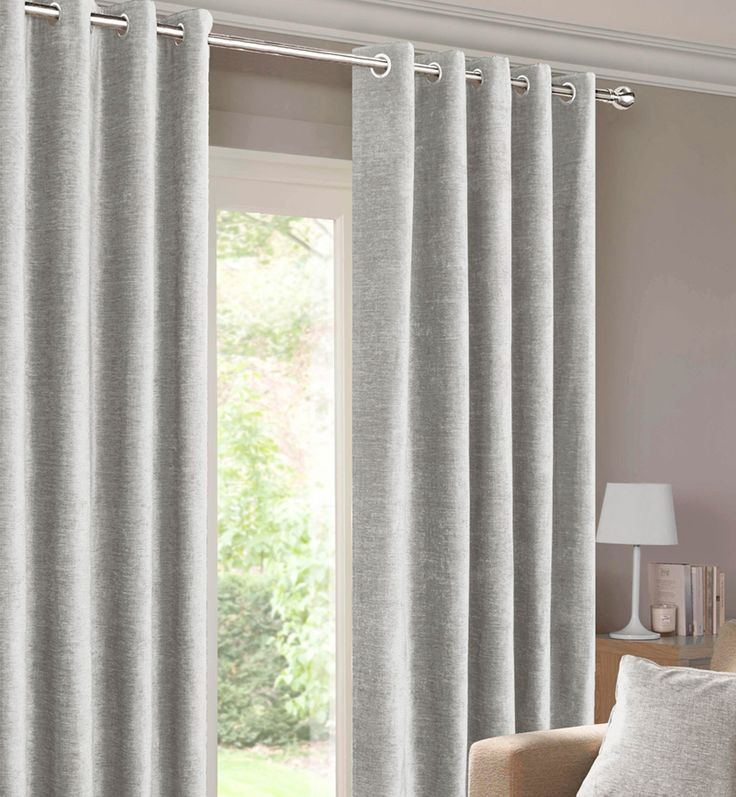 Balmoral Silver Ready Made Eyelet Curtains | Harry Corry Limited