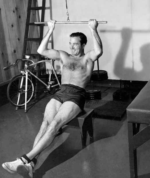 John Payne in the gym