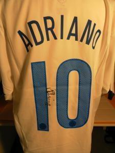Maglia calcio INTER football shirt 2005 Autografata da ADRIANO