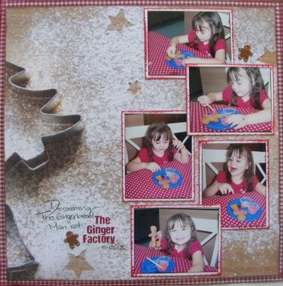 The Ginger Factory page created with Kaisercraft, Base Coat Christmas by Teena Hopkins for My Scrappin' Shop.