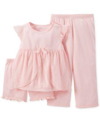Carter's Girls' or Little Girls' 3-Piece Pajamas
