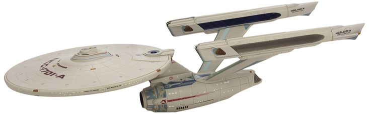 "Diamond Select Toys Star Trek VI: The Undiscovered Country: Enterprise A Ship. A Diamond Select Toys release. Based on the starship as featured in Star Trek VI: The Undiscovered Country. Ship is 16"" long. All-new lights, sound and paint. Packaged in full-color window box with try-me feature."