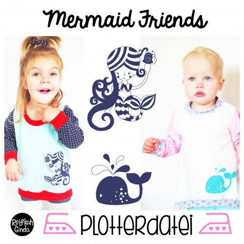 Mermaids-plotterfile freebook