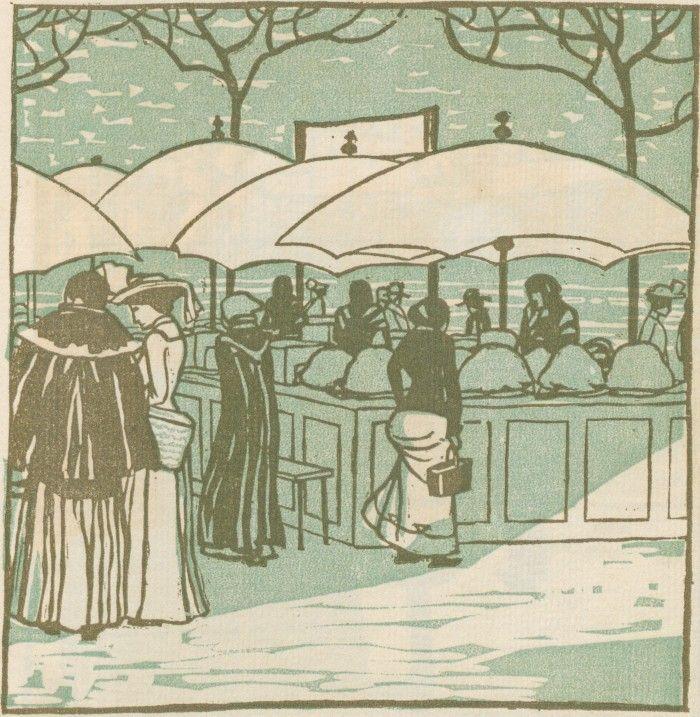F. König, Obststände vom Wiener Naschmarkt, Ver Sacrum, Volume 1, Number 11, 1 June 1903