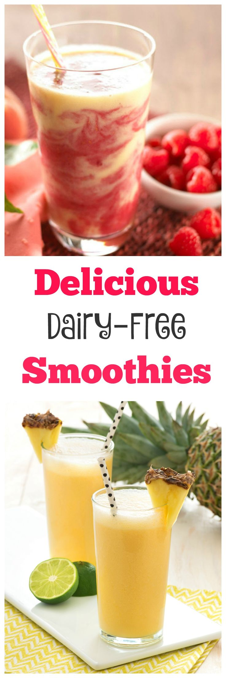 Delicious Dairy Free Smoothies - these dairy free delights are refreshing, full of flavour and are made with Almond Breeze. A great addition to your family's breakfast or after school snacks.