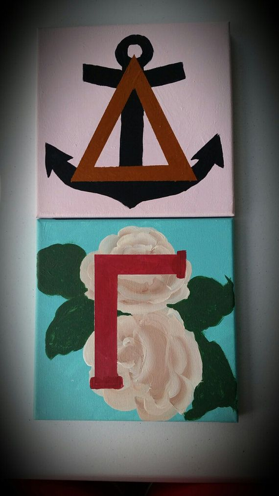 OMG this is sooooo perfect!!! Delta Gamma Letters featuring cream rose and anchor on Etsy, $30.00