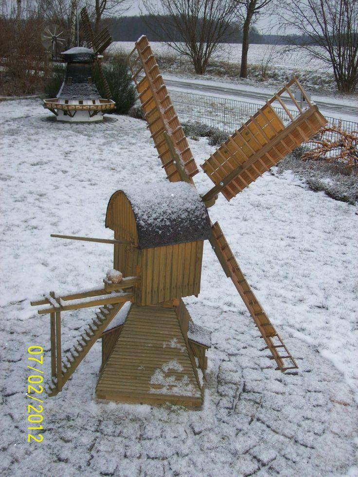 Gartenwindmühle 3 Bauanleitung zum selber bauen