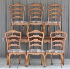 Vtg Ethan Allen Juliette Dining Room Table U0026 6 Chapelle Ladder Back Side  Chairs