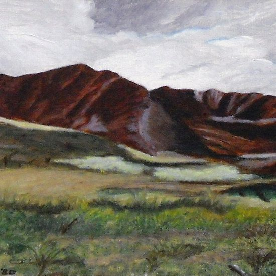 """Makua Valley, Oahu, HI © C J Lewis 1980. Oils on canvas board 10""""x 12"""". ORIGINAL PAINTING IS FOR SALE FOR $250.00 POSTAGE/SHIPPING NOT INCLUDED. Available on various products at http://www.redbubble.com/people/chrisjoy/works/5248668-makua-valley-oahu-hi"""