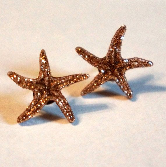 sparkly starfish earrings