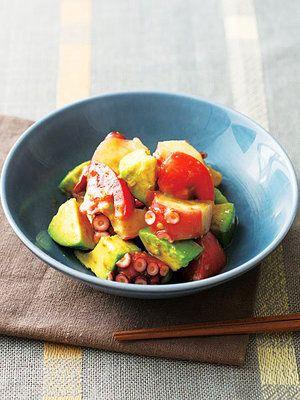 ごろごろした食感が楽しい、ピリッと辛い和風サラダ。|『ELLE a table』はおしゃれで簡単なレシピが満載!