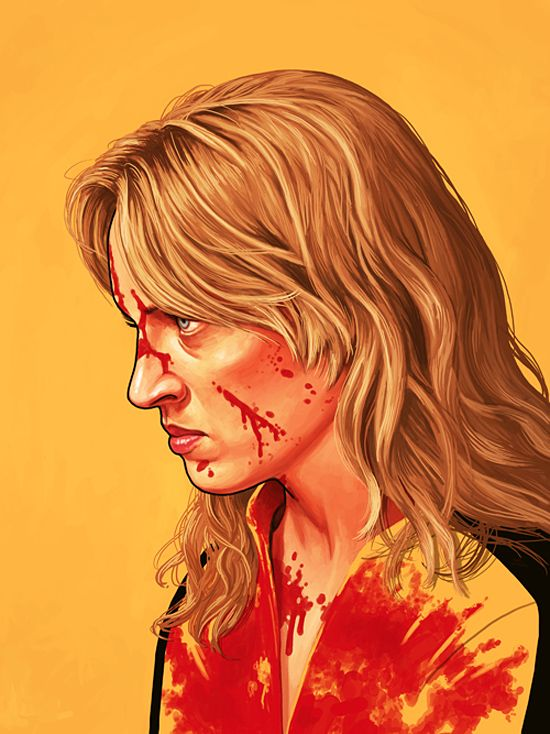 Famous Movie Characters: Illustrations by Mike Mitchell