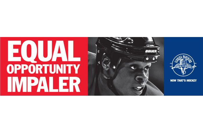 """Florida Panthers - """"Equal Opportunity Impaler."""""""