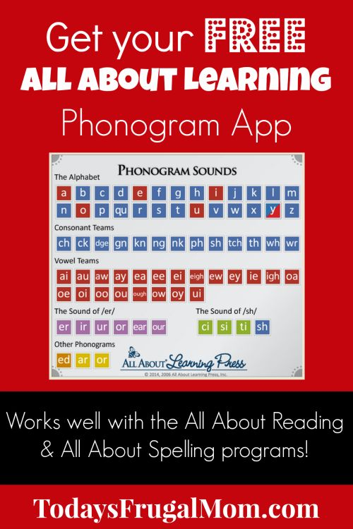 Get your FREE All About Learning Phonogram App today! :: TodaysFrugalMom.com