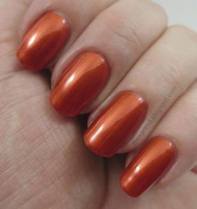 orange nail polish ideas