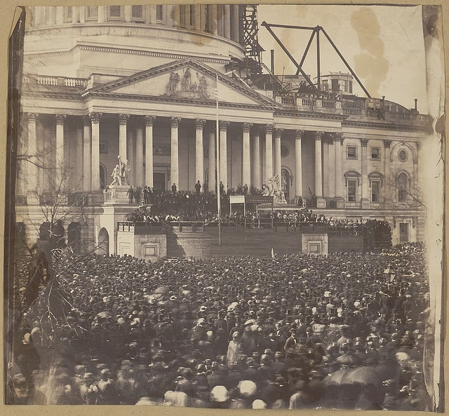 Inauguration of Mr. Lincoln, March 4, 1861 (LOC) by The Library of Congress, via Flickr