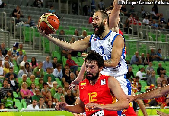 Vassilis Spanoulis, captain of National Greek team in Greece vs. Spain (79-75) #Eurobasket2013