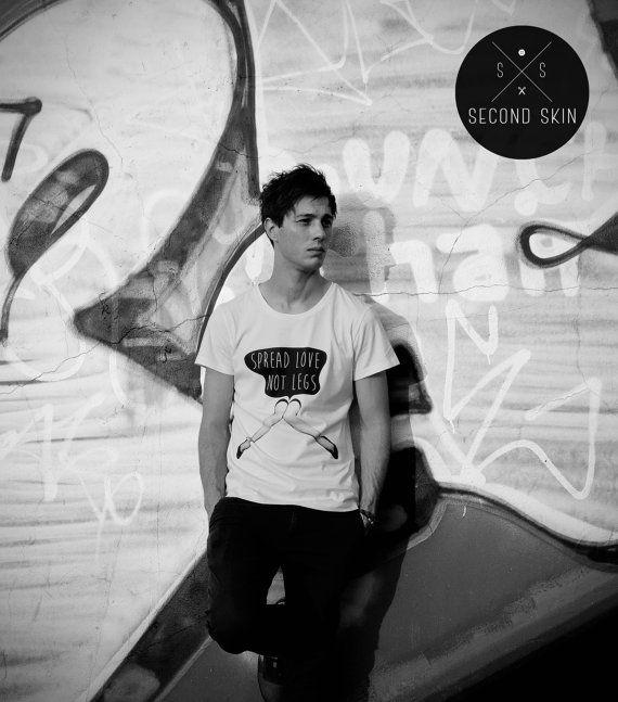 Spread love Screen printed Men's T-shirt. by SecondSkinLT on Etsy #slutshaming #streetfashion #tshirt #secondskinlt #apparel #streetwear #screenprint #value #spreadshirt #spread #love