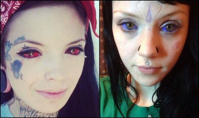 Questa forma di tatuaggio viene realizzata iniettando dell'inchiostro nella sclera, la parte bianca dell'occhio, per mezzo di un ago.