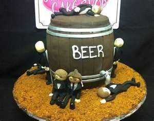funny grooms cake ideas | funny grooms cake