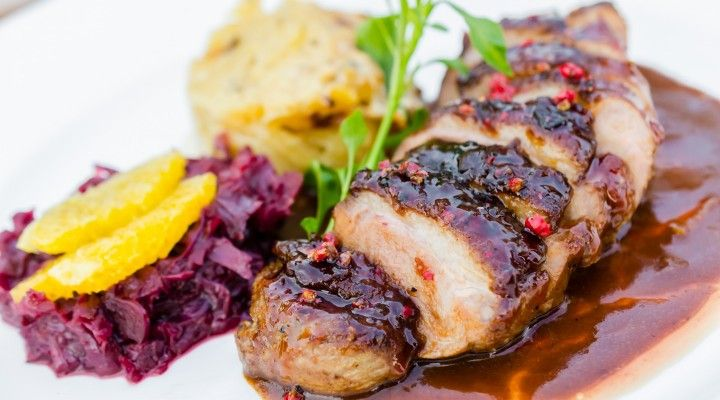 #gourmetfood #romantic #dinneroptions #healthy #healthydinneroptions #valentinesday  Amore by Francesco  Duck breast with globe artichoke, beetroot fondue