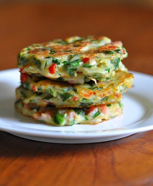 Korean Potato Pancakes (Gamja Jeon). This has flour, but the fambam will likr. Also has link to other Korean food