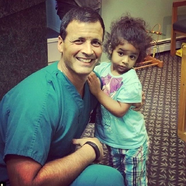 #Children's dentist Dr. Jay Cazes shares lighter moments with happy patient at Cazes Family Dentistry LLC
