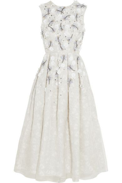 Ice white and embellished blooms for fall? Yes per-lease via @netaporter