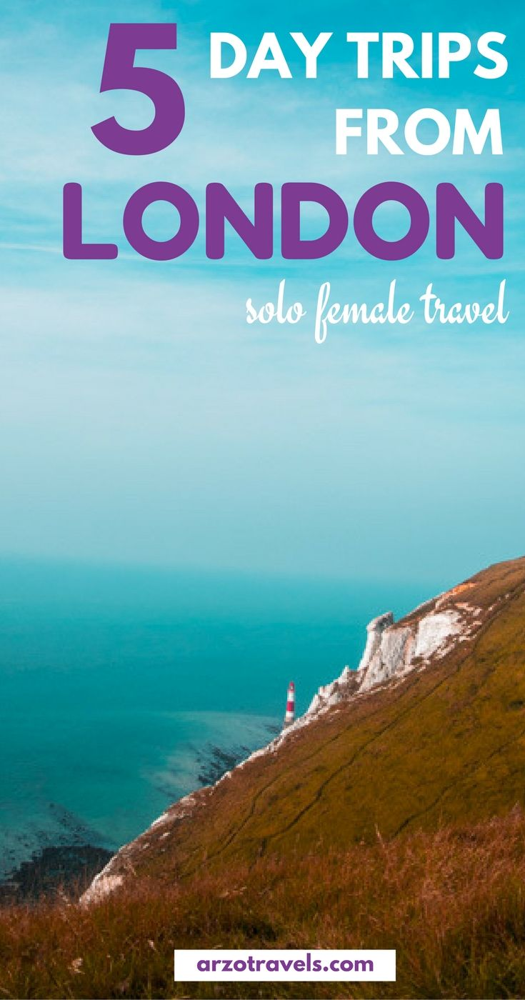 5 day trip ideas from London - day trip from London to Eastbourne (Beachy Head), Hastings, Brighton, Canterbury and Dover. Places to visit close to London.