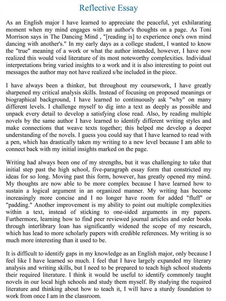 Best  Reflective Essay Examples Ideas On   How To