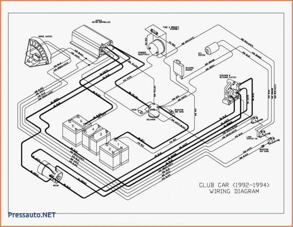 36 Volt Club Car Forward And Reverse Switch Wiring Diagram For Club Car Golf Cart Electric Golf Cart Ezgo Golf Cart