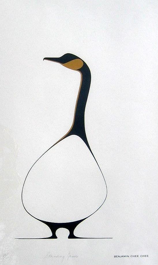 Benjamin Chee Chee    Standing Goose