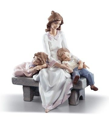LLADRO - AN AFTERNOON NAP.  Love this.... it could be me with my son & daughter.