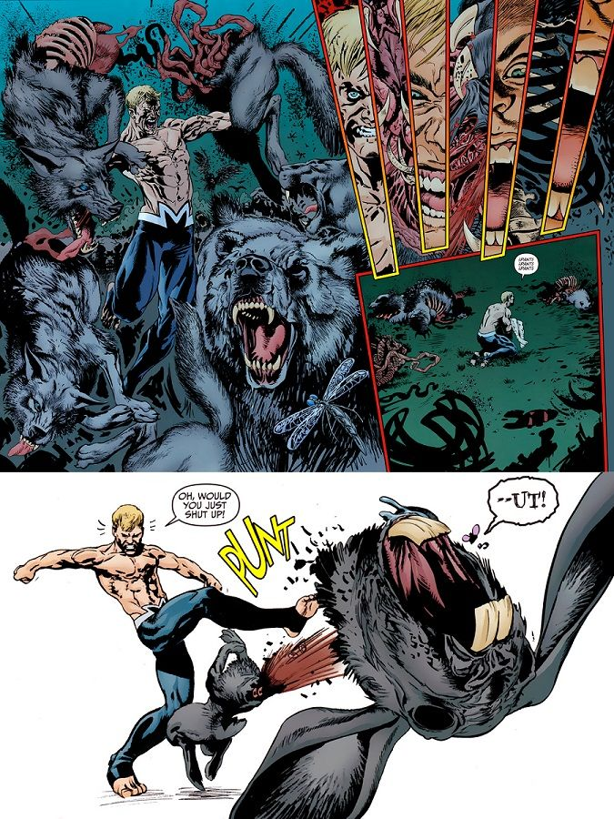 Animal Man Kicks Off Undead Wabbits Head From 8 Art By