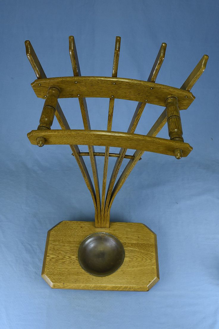 Antique OAK BENTWOOD UMBRELLA STAND RACK with COPPER TRAY BEAUTIFUL | eBay
