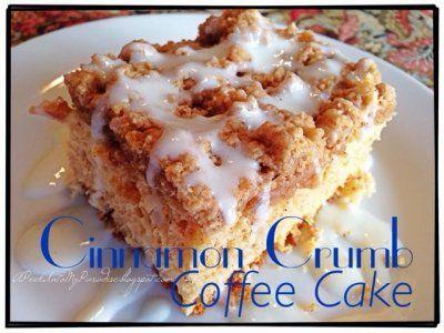 Cinnamon Crumb Coffee Cake by Cathy Compeau