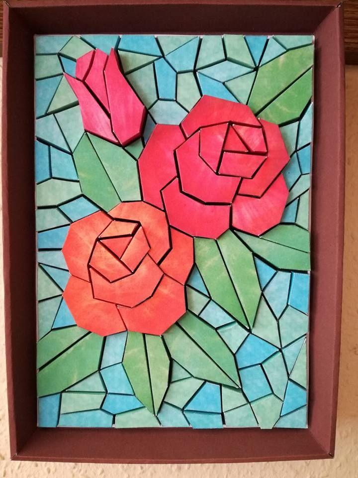 Varga Attila munkája, papír mozaik - Kreatív hobbik csoport