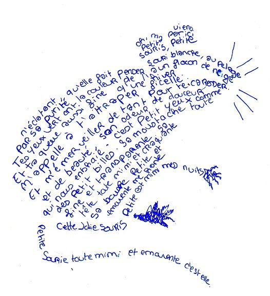 calligramma topo