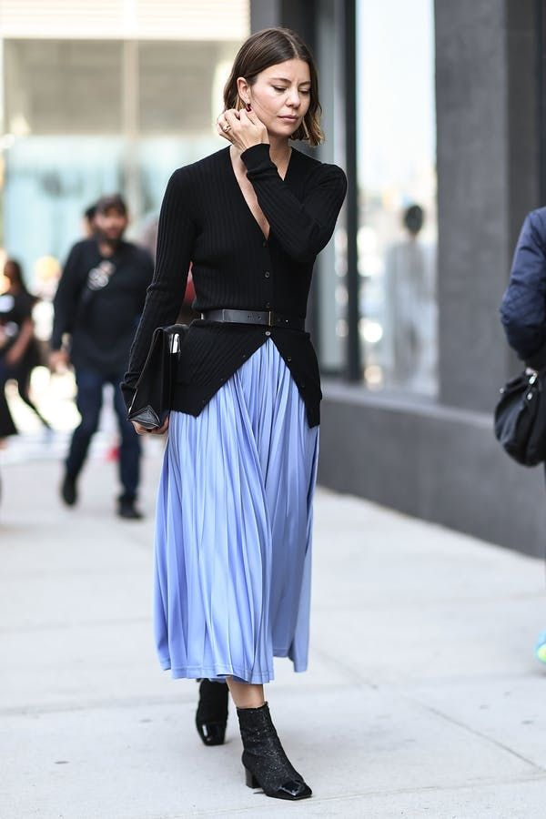 belted cardigan + maxi skirt