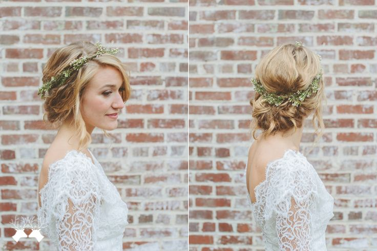 Lovely hair style for summer... love the flowers wrapped in her hair too!