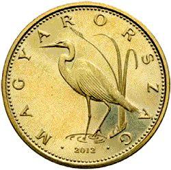 5 forintos címletű érme : Nagy kócsag