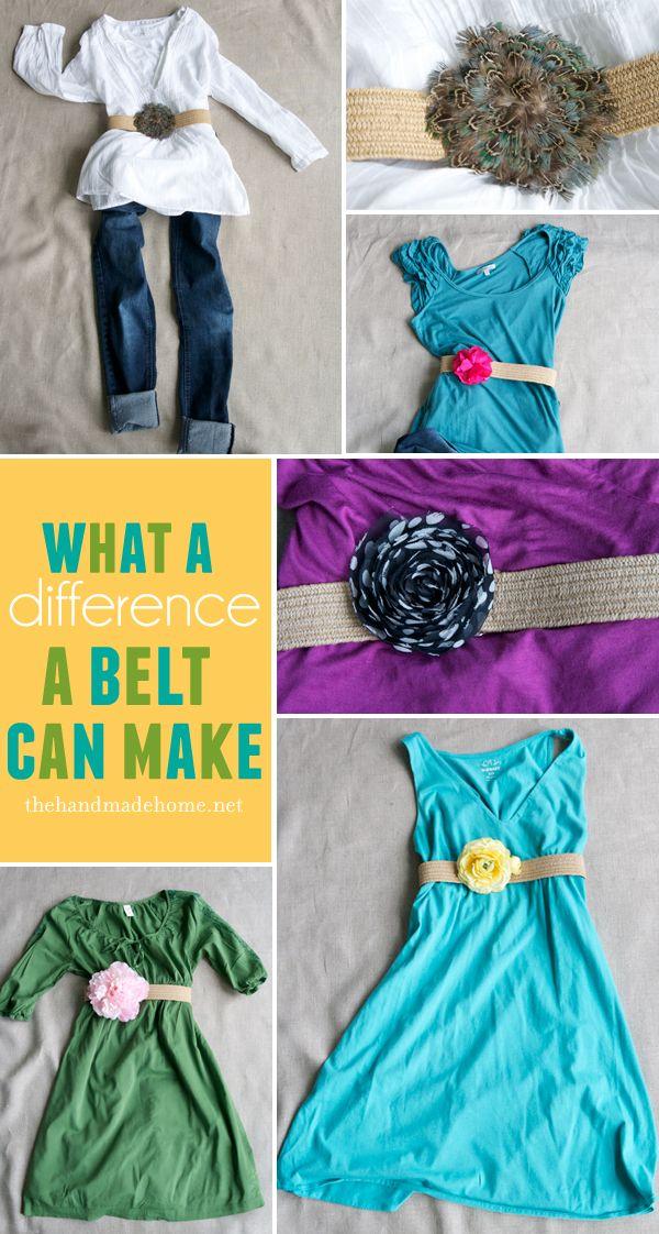 DIY belt ideas.