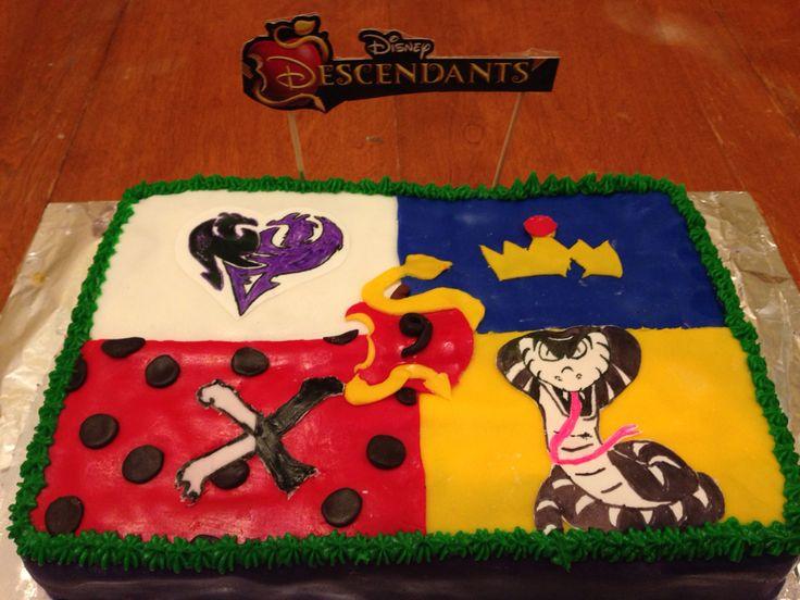 Descendants Cake Designs : Disney descendants birthday cake Birthday parties ...