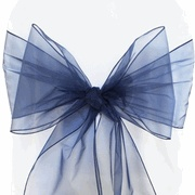 8x108 Organza Sash - Navy Blue(10pcs/pk)  $0.56 each
