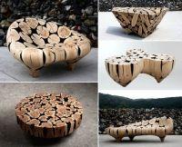 Дерево и плавные линии – необычная футуристическая мебель