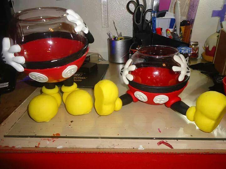 M s de 25 ideas incre bles sobre dulceros mickey mouse en for Decoraciones de botes de plastico