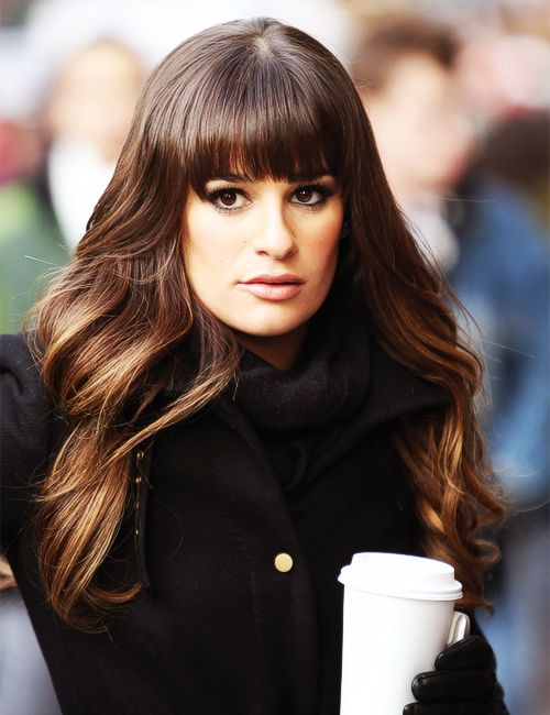 the bangs, the shine, the subtle ombre. I love her hair. If only I had thicker hair I would do this ASAP